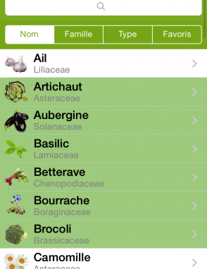 application android mon jardin potager
