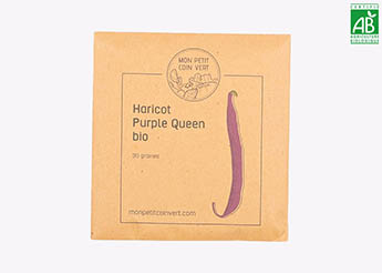 Haricot Purple Queen bio